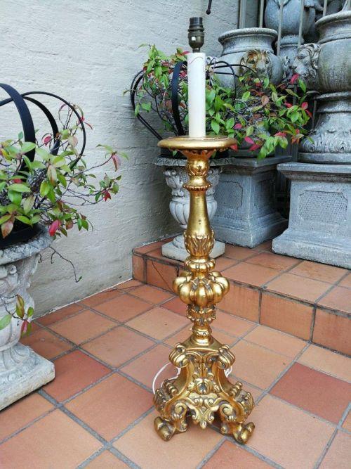 A Giltwood Floor/Standing Lamp