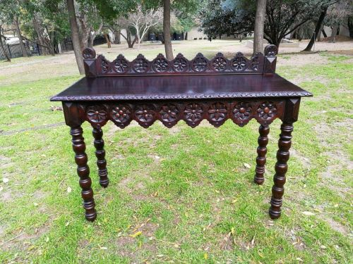 English Oak Carved Table/Drinks Table/Server