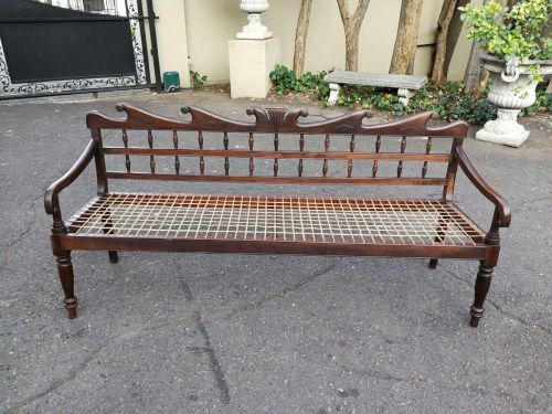 A 19th Century Cape Colony Stinkwood Riempie Bench / Rusbank ND