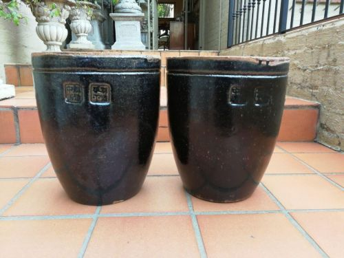 Pair Of Mongolian Ceramic Pots Of High Quality