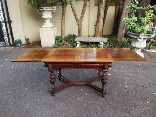"""19th Century Dutch Oak """" Draw Leaf Extension Table"""