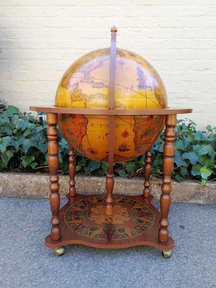 A 20th Century globe bar imported from USA