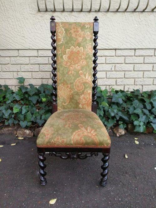 Victorian mahogany high back chair