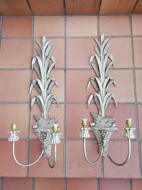 Pair of large size wall sconces