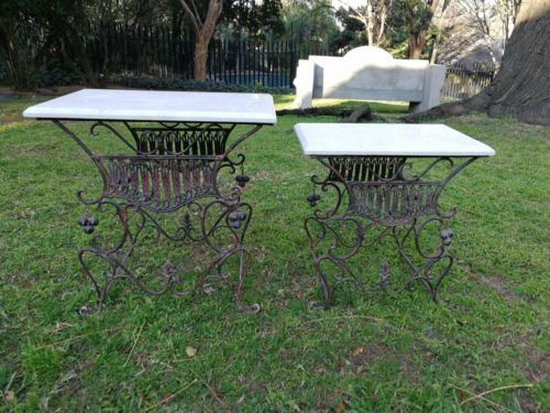 A Set Of 20th Century Ornate Metal Tables