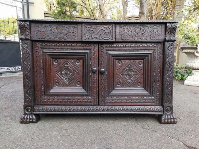 A 19th Century Gothic Revival Oak Server