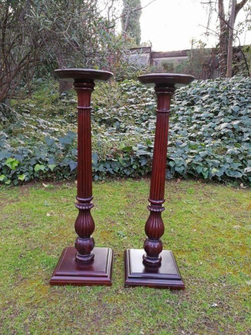 Pair Of Mahogany Pedestals