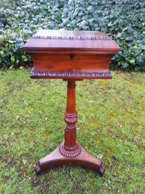 A Victorian Mahogany Needlework Pedestal