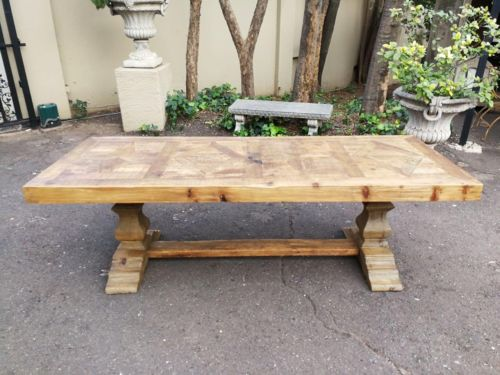 A Vintage Malaysian Wood Dining/Refectory/Entrance Table With Inlay