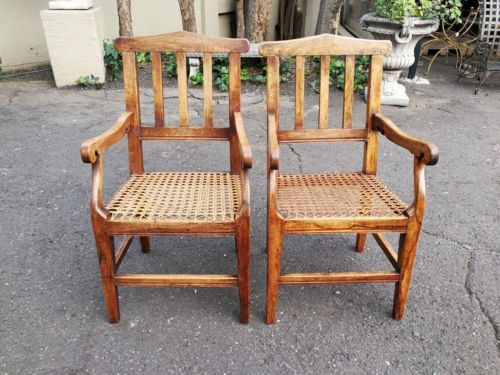 A Pair Of Transvaal Teakwood Armchairs With Typical Herbert Baker Influence. Made By The Renowned Furniture Maker James Smith