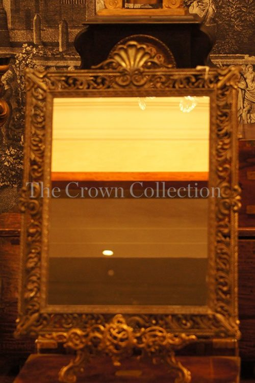 Antique/vintage brass framed Italian mirror