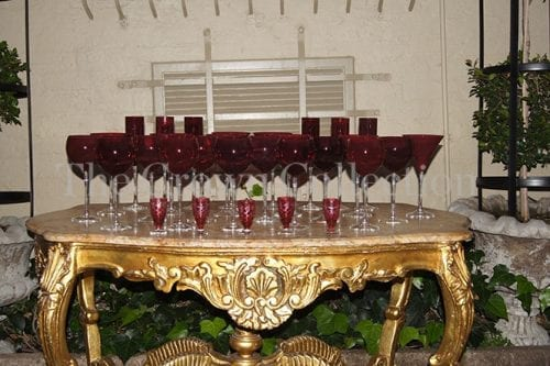 Set of 30 Red Glasses