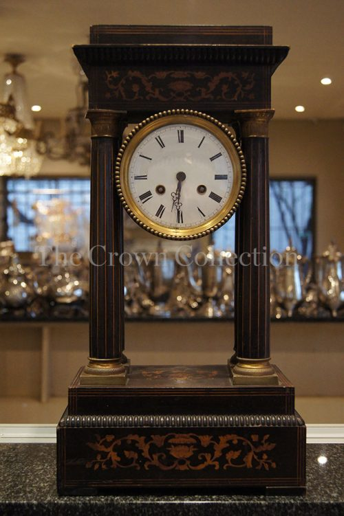Empire Walnut Portico Clock ND