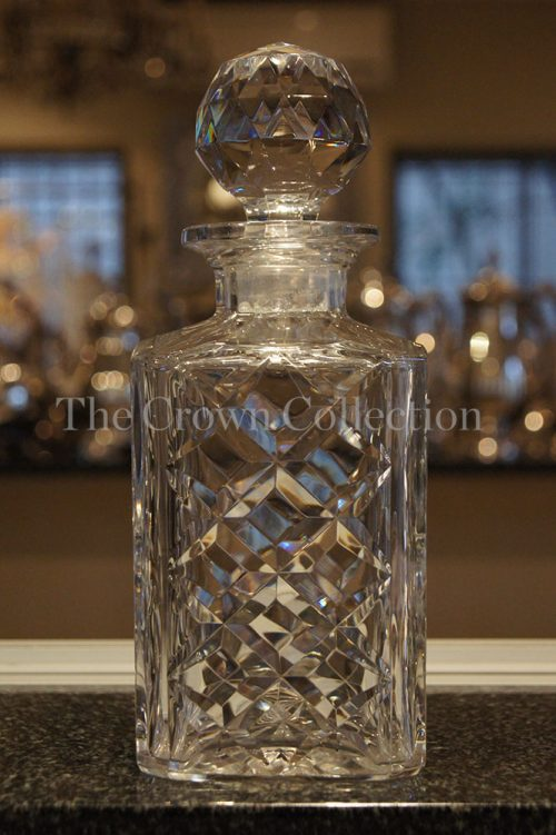 Val St Lambert Cut Crystal Decanter