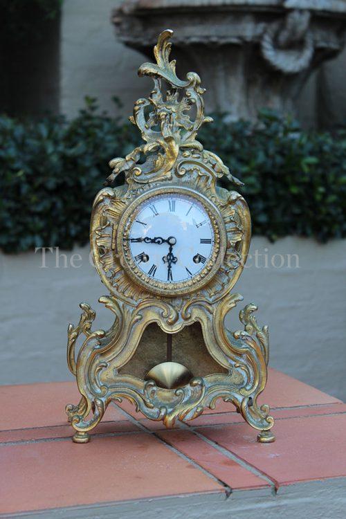 Rococo Style Clock (Brass)