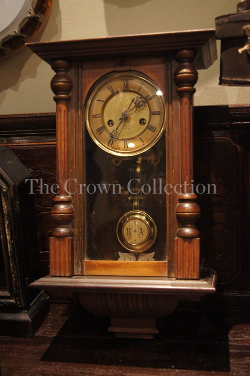 Victorian Walnut Cased Wall Clock