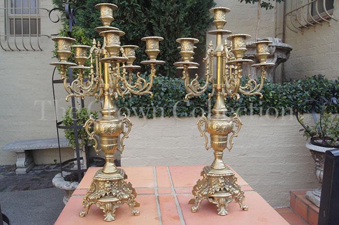 Pair Brass Candelabras (ND)