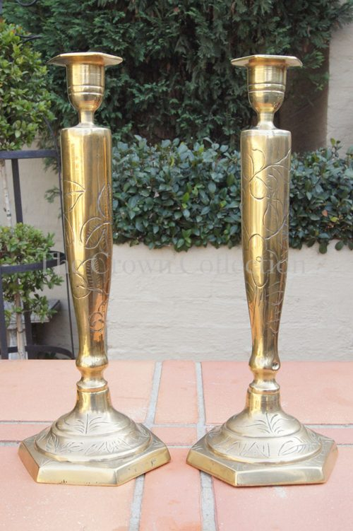 Pair Brass Candlesticks