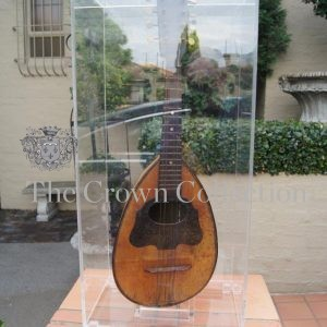 Antique Mandolin Encased in Perspex Box