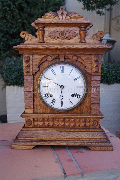 Early 1900 Oak 8 Day Clock