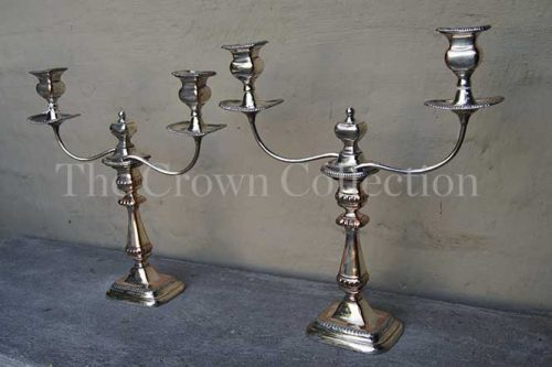 Pair 19th century Shaffield 2Arm Candelabra