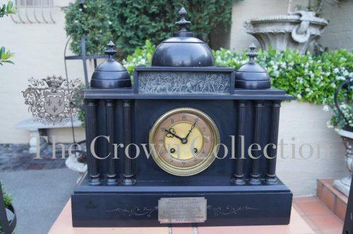French Black Onyx Clock 1912