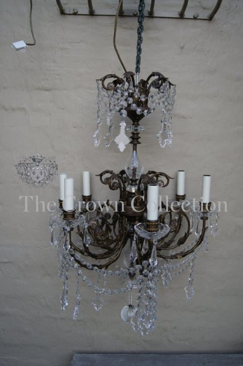 Crystal 6 Arm Chandelier