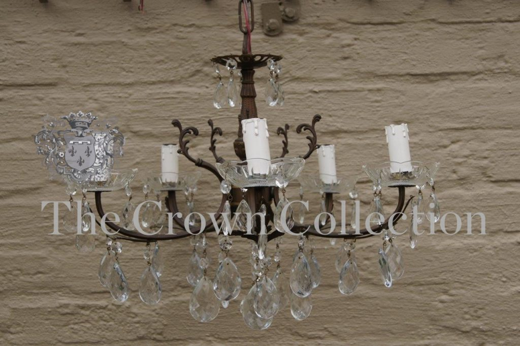 Chandeliers Vintage French Bronze Amp Crystal Chandelier Was Listed For R6 900 00 On 13 Feb At