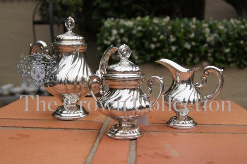 3 Piece Silver continental coffee Set