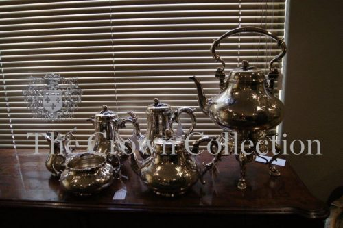 6 Piece Tea/Coffee Set Silver Plated Extra Large