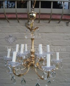 1940 French Gilt Metal Chandelier