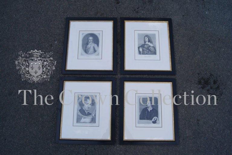 Set of 4 Framed Portrait Prints