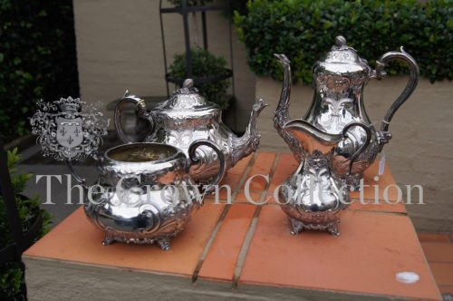 Victorian 4 Piece Silver Plated Tea Set
