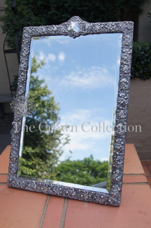Antique Hallmarked Silver Framed Mirror Birmingham - circa 1803