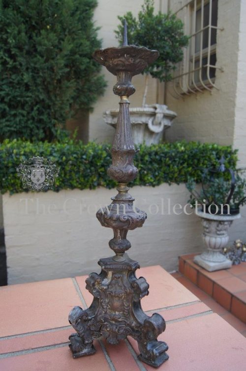 18th Century Continental Baroque Altar Candlestick