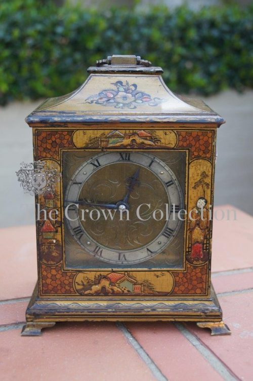 French Mantle Clock with Oriental Detail