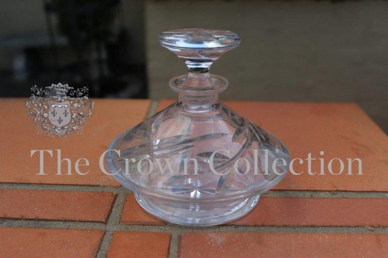 Czechoslovakian Lead Crystal Perfume Bottle