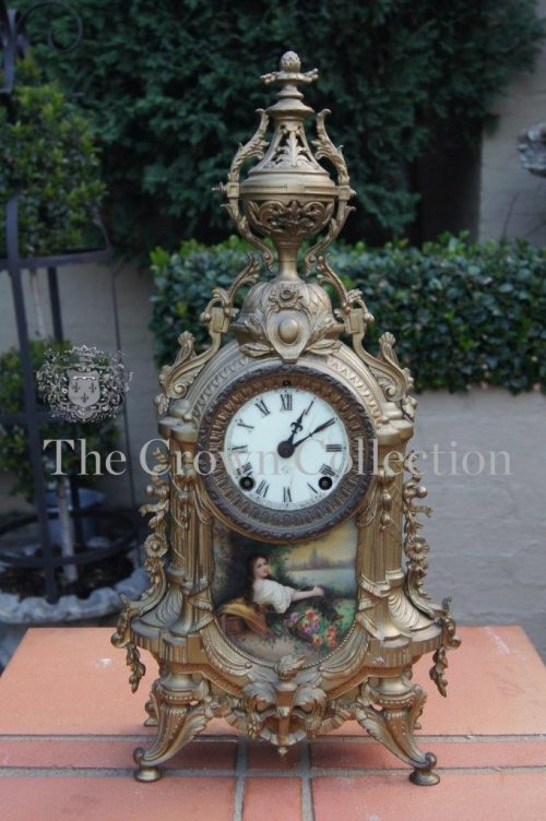 Ansonia Gilt Mantle Clock - ND