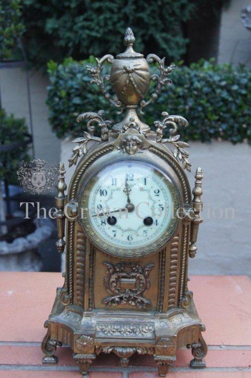 19th Century French Gilt Bronze Mantle Clock