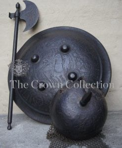 Vintage Indo Persian Mughal 3 piece Battle Set
