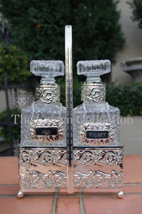 Vintage Silver Plated Tantalus (2 Decanter Set)