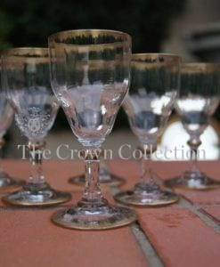 Set of 6 Sherry Glasses with Gold Trim