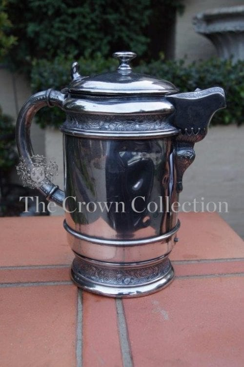 Antique Silver Plate Water Pitcher Insulated Wilcox