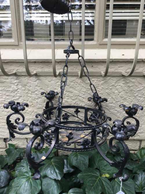 Wrought Iron Hanging Candelabra
