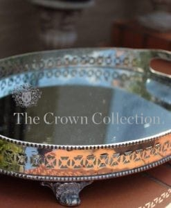 Silver Plated Mirrored Gallery Tray