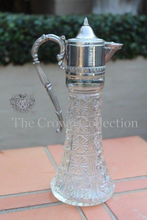 Vintage 'Raimond' Silver Plate & Cut Glass Claret Jug