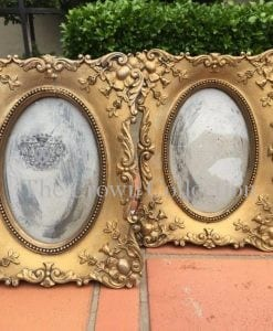 Pair Ornate Rococo Style Oval Picture Frames