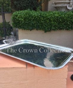 Large Silver Plated Tray - Mappin & Webb