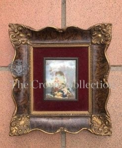 Miniature 19th Century Painting Signed - ND