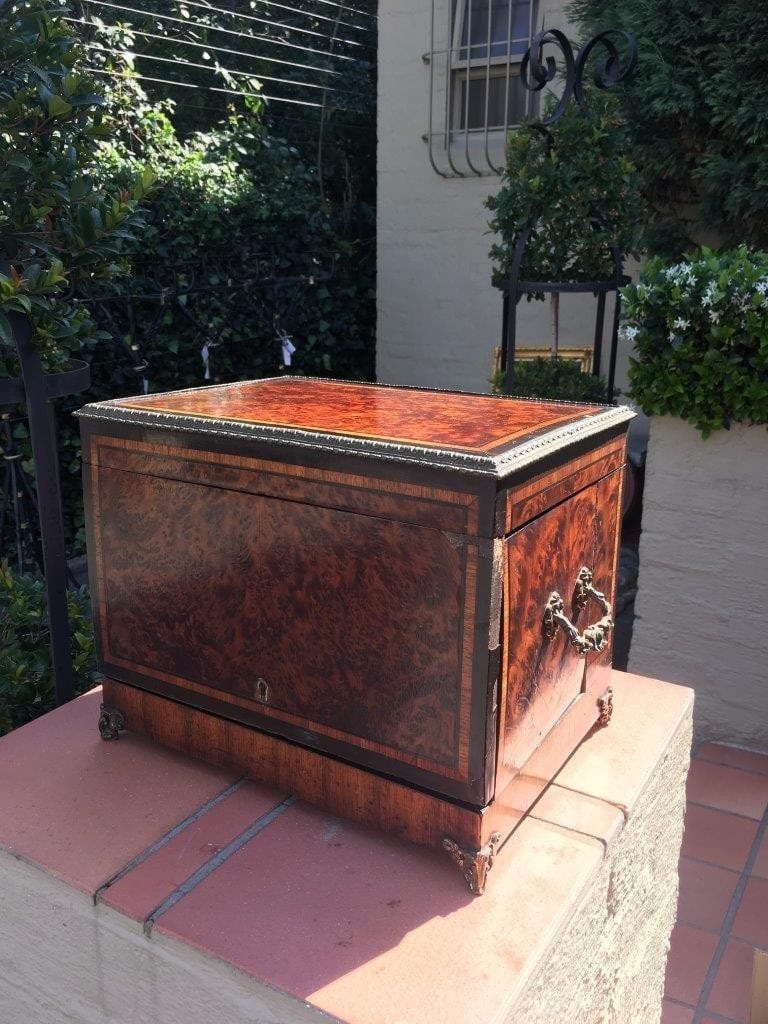 19th Century Burr Walnut Tantalus